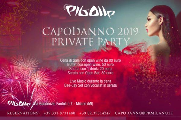 CAPODANNO PRIVATE LOFT PARTY OPEN BAR PIGALLE MILANO